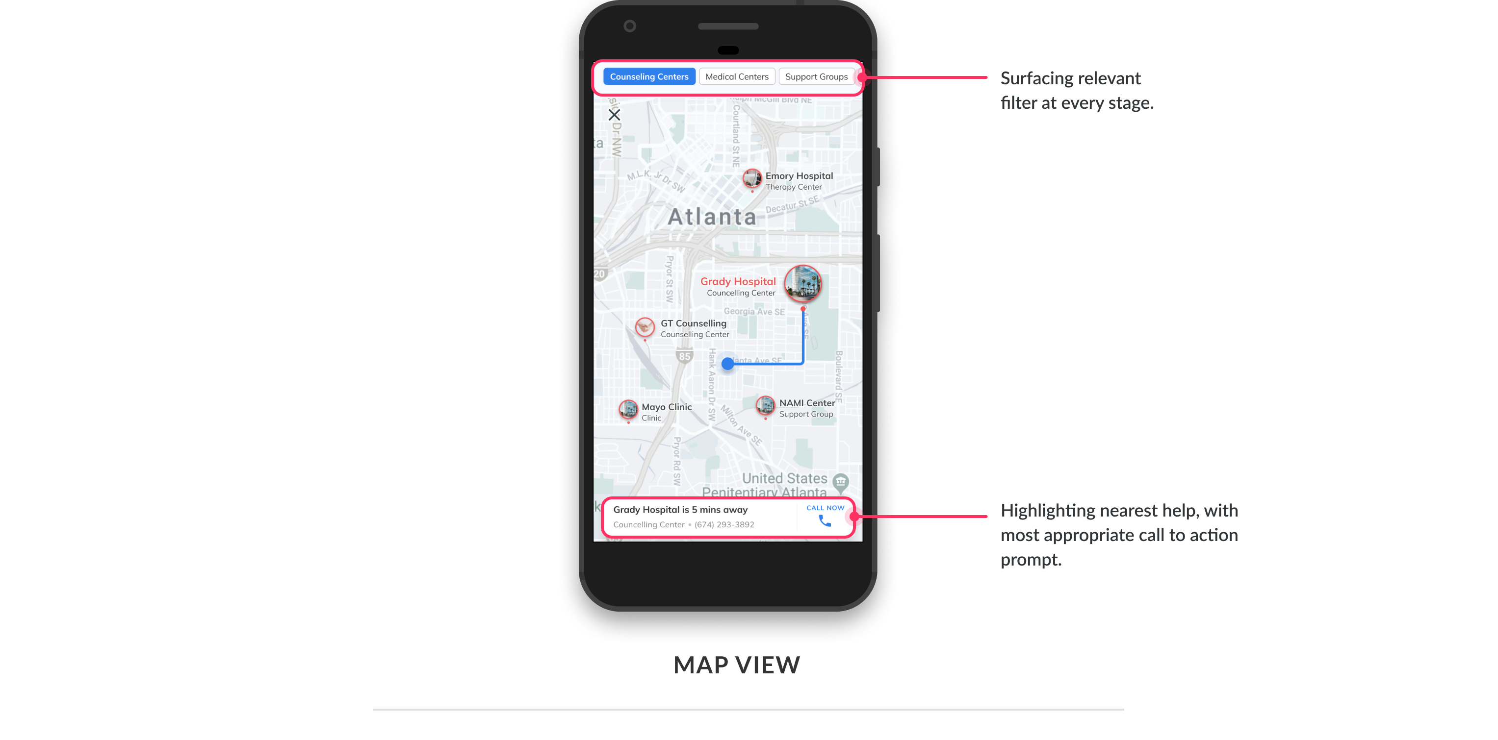 Map view in app